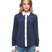 Color Block Blouse by Juicy Couture
