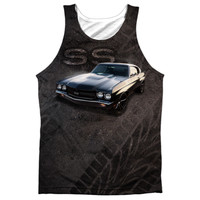 CHEVY/MUSCLE CHEVELLE SS-ADULT POLY TANK TOP-WHITE
