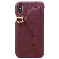 Dior Tide brand iPhone 7 plus saddle card package phone case cover D1