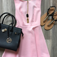 I'll stand by you dress - Blush