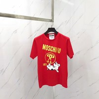2018  Women Cheap Moschino t shirt hot sale ♀ 012