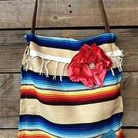 Keep It Gypsy Hazel Crossbody Bag in Ivory Serape