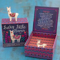 Lucky Little Llama Token Charm in Box