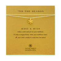 tis the season snowflake silver silk necklace, gold dipped - Dogeared