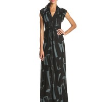 French Connection Women's Meadow Big Brushstroke Jersey Maxi Dress