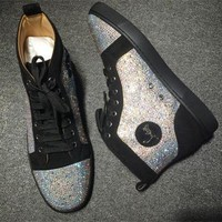DCCK2 Cl Christian Louboutin Rhinestone Style #1938 Sneakers Fashion Shoes