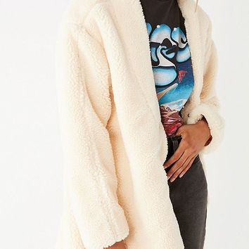 UO Ina Faux Sherpa Over Coat | Urban Outfitters