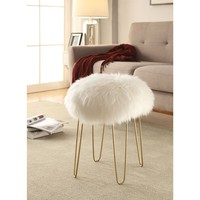 Shailene Sheepskin Stool