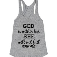 GOD IS WITHIN HER SHE WILL NOT FAIL PSALM