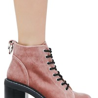 Lynx Rose Lace-Up Booties