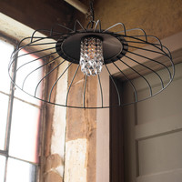 Canopy Pendant Light With Glass Gems