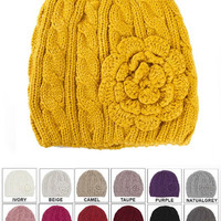 Flower Beanies - Multiple Colors Available