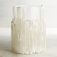 Large Gypsum Stone Hurricane Candle Holder