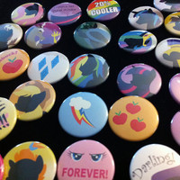 My Little Pony Buttons FIMFriendship is Magic Pinback by Xexus
