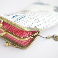 iPhone wallet / Double Pockets / iPhone Sleeve / by lazydoll