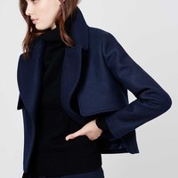 Cropped Wool Coat