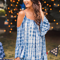Rylie Tie Dye Dress (Navy)