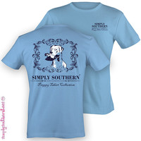 Southern Unisex Preppy Duck T-Shirt on Blue