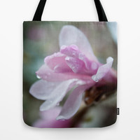 spring pink magnolia flower photography.   Tote Bag by NatureMatters