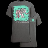 Southern Couture Paisley Elephant Arrows Girlie Bright T Shirt