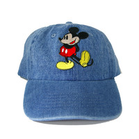 Vintage Culture Mickey Mouse Patched Dad Hat In Denim