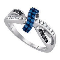 Diamond Fashion Ring in Sterling Silver 0.27 ctw
