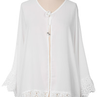 Cupshe Soar Into Air Lace Cover-up