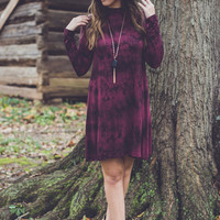Madame Butterfly Dress in Maroon with Open Back