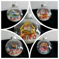 Paw Patrol Ornaments - Personalized Ornament