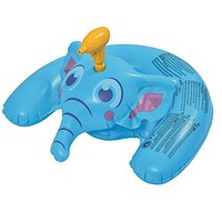 By PoolCentral 35 inch  Blue Inflatable Ride-On Elephant with Squirter Swimming Pool Toy