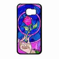 Rose Beauty And The Beast Blue Samsung Galaxy S6 Case
