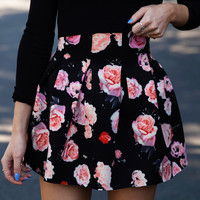 STAY WITH ME SKIRT - floral print skirt