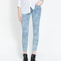 FLORAL JEANS - Trousers - TRF - New collection | ZARA United States