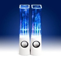 Leading Edge Illuminated Dancing Water Speakers - White:Amazon:Computers & Accessories