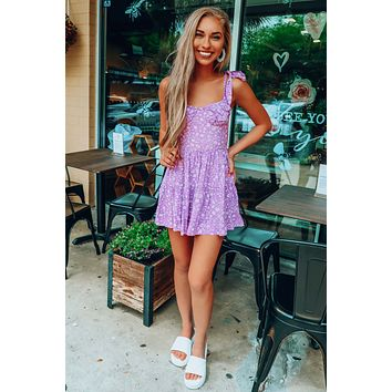 Search For Soul Dress: Purple/Ivory