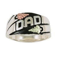 Black Hills Gold on Sterling Silver Oxidized DAD Ring
