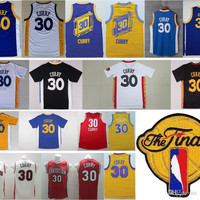 Throwback #30 Stephen Curry Jersey Blue White Yellow Black Stephen Curry Stitched College Basketball Jerseys Cheap Free Shipping
