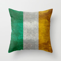 National flag of the Republic of Ireland - Vintage Version Throw Pillow by LonestarDesigns2020 - Flags Designs +