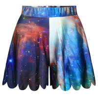Blue Starry Sky Printed Casual Low-waist Sports Shorts