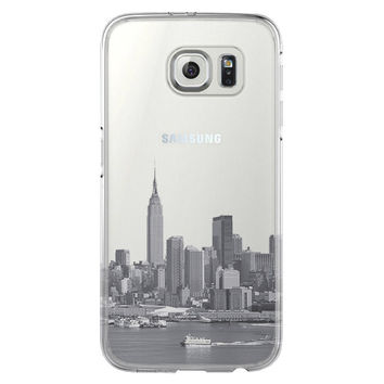 New York City Skyline Hudson River Samsung Galaxy S6 Edge Clear Case S6 Case S5 Transparent Cover iPhone 6s plus Case