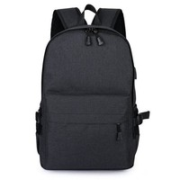Student Backpack Children External USB Charge Men Backpack for 15.6 inch Laptop Bagpacks Large Capacity Student Backpack Casual Style Bag Waterproof W670Z AT_49_3