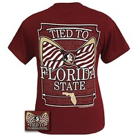 FSU Florida State Seminoles Tied To Big Bow Girlie Bright T-Shirt