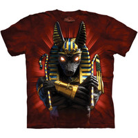 ANUBIS SOLDIER The Mountain Ancient Egyptian God Of Death Pharaoh T-Shirt S-3XL