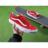 18ss ANKUANZ x Vans Vault Style 36 Casual Shoes Red White Plate Shoes