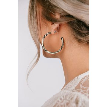 Don't Be Concerned Hoop Earrings (Olive)