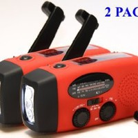 topAlert 2-PACK HY-88WB Emergency Dynamo Solar Self Powered AM/FM/WB(NOAA) Radio, Flashlight, Charger for Cell Phones: iPhone, iPad, iTouch, Android, Smartphone, USB device