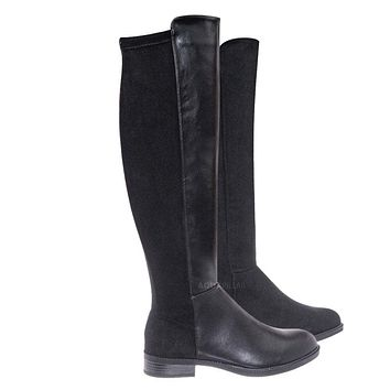 Sector08 Duo Fabric Knee High Riding Boots