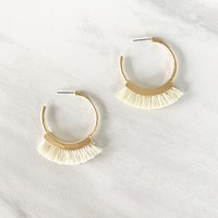 Break It Down Fringe Earring in Ivory