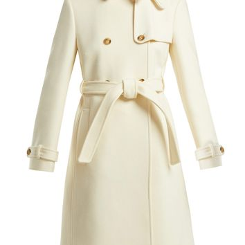 Double breasted belted wool coat   REDValentino   MATCHESFASHION.COM US