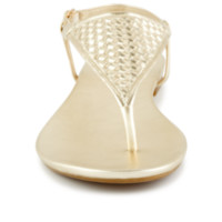 Xappeal Madeline Women's ShoeShimmer like the sun in the Madeline women's shoe from Xappeal. This sparkly sandal features allover metallic detailing for fun, feminine flash.
